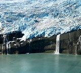 glacier runoff into ocean
